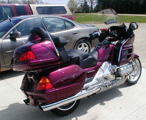Denny's new motorcycle